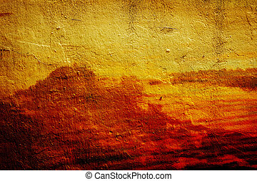 old colored wall texture abstract landscape