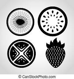 fresh fruit design, vector illustration eps10 graphic