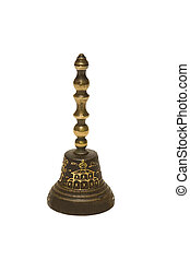 Handbell - Ancient Russian handbell, from bronze, on the...