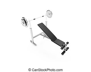isolated muscle machine over white