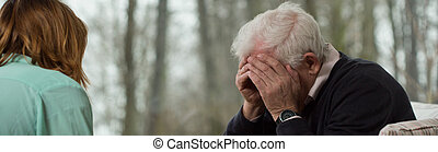 Broken down man - Image of broken down older man at...