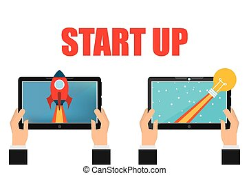 start up design, vector illustration eps10 graphic