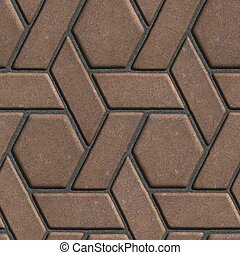 marrón, construido, Hexágonos, losas, paralelogramos,...