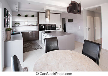 Modern furniture in designed kitchen - Picture of modern...