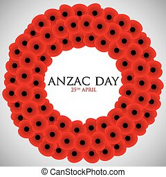 ANZAC Australia New Zealand Army Corps Day card in vector...