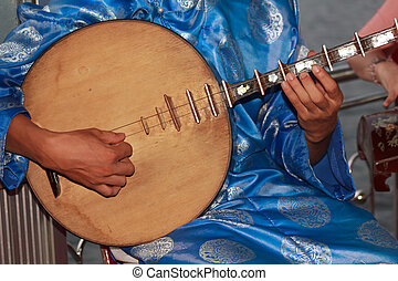 Musicians playing traditional instruments