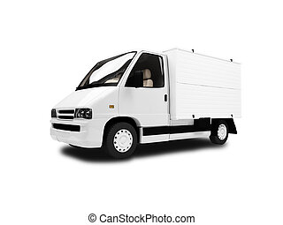Cargo car over white background - isolated cargo car over...