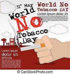 May 31st World No Tobacco Day. - May 31st World no tobacco...
