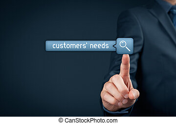 Customers needs concept. Marketing specialist search...