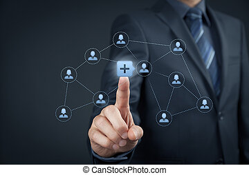 Social media concept - Social media and community concept...