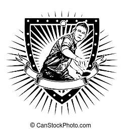 table tennis shield