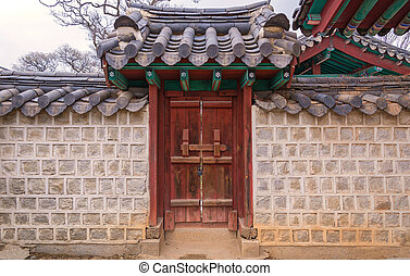 tradition gate korean style in South Korea