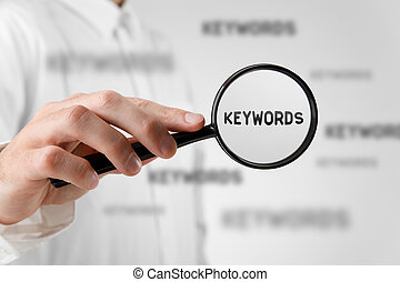 Find keywords concept Marketing specialist looking for...