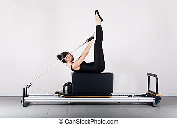 Gymnastics pilates - Backstroke position. Pilates gymnastics...