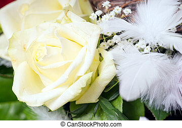 Roses - white roses and heart decoration