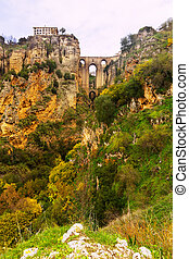 Bridge called the Puente Nuevo in Ronda. Spain - Stone...