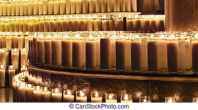 Wax candles - Photograpgh of some candles in a dark scene