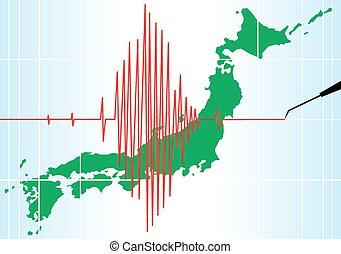 seismic problems in japan  as nice background