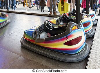 bumper cars at a fair