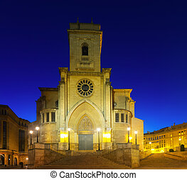 Cathedral of San Juan de Albacete in early morning time...