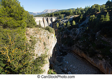 Day view of dam at Guadalentin river - Day view of dam at...