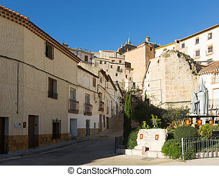 Picturesque street in spanish city Chinchilla de...