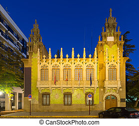 Evening view of knife museum in Albacete Spain