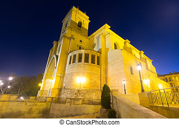 San Juan de Albacete in evening time - Wide angle shot of...