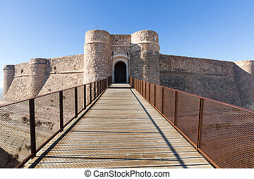 Gate of castle. Chinchilla - Gate of castle of Chinchilla....