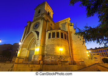 Cathedral of San Juan de Albacete in evening time. Spain...