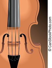 violin background - old violin as very nice music background...
