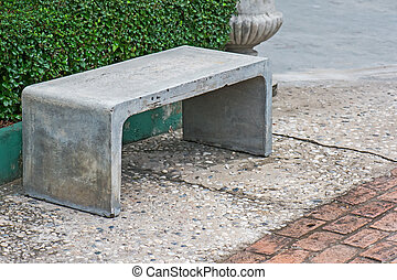 Benches - The benches is made by cement