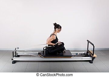Gymnastics pilates - Push curls position. Pilates gymnastics...