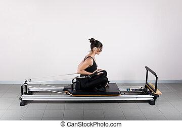 Gymnastics pilates - Push curls position. Pilates gymnastics...