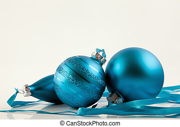 Blue christmas ornaments - Different blue christmas...