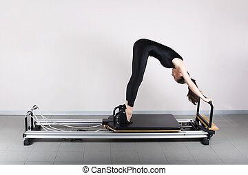 Gymnastics pilates - Elephant position. Pilates gymnastics...