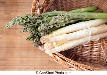 Asparagus - fresh Asparagus in a basket