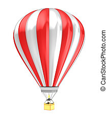 hot air baloon - 3d illustration of hot air baloon isolated...