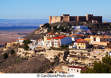 Castle at mount Chinchilla de Monte-Aragon, province of...