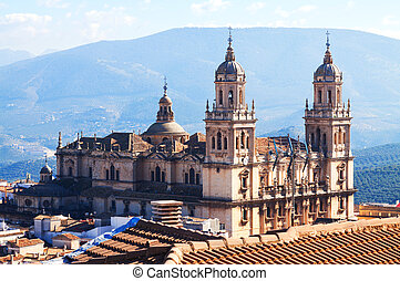 Renaissance style Cathedral in Jaen.  Spain