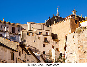 Picturesque houses in spanish city. Chinchilla de...