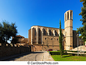 Cathedral of Pedralbes Monastery at Barcelona - Cathedral of...
