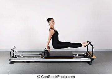 Gymnastics pilates - The L sit position. Pilates gymnastics...