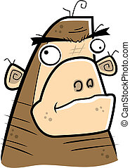 Cartoon Ape - A cartoon ape face.