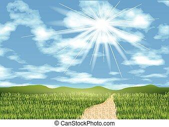 blue sky ahead