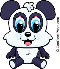 Baby Panda - A cartoon baby panda bear smiling