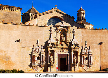 Entrance of Poblet Monastery Catalonia, Spain