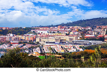 residential districts of Plasencia Spain