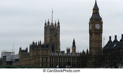 The Palace of Westminster and the Big Ben seen while...