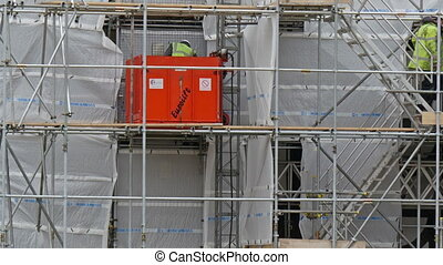 The view of a construction man on a site